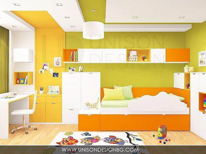 """Интериорен дизайн на Детска стая """"Габи"""""""