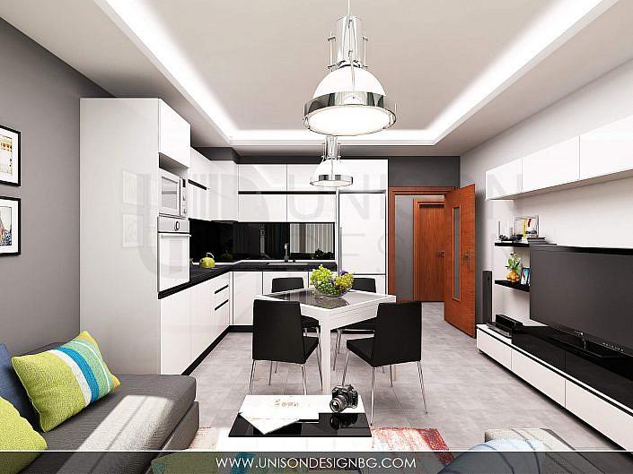 """Интериорен проект на апартамент """"Мони"""""""