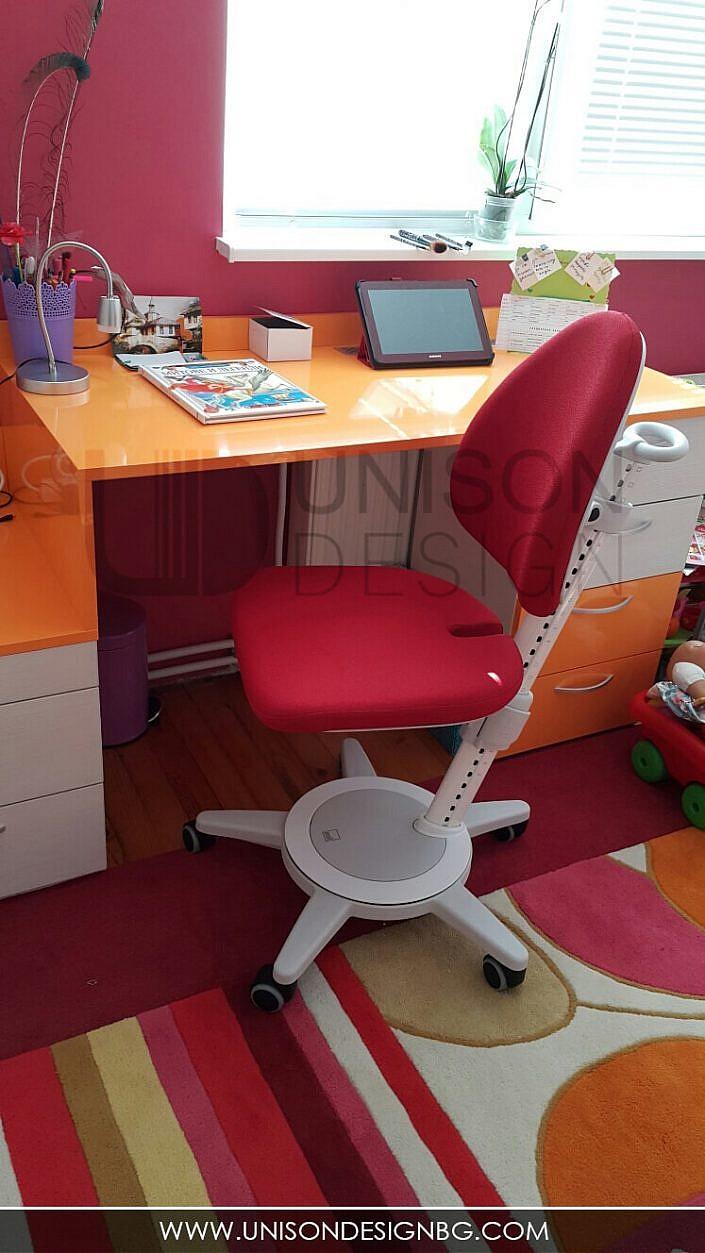 Реализация-детска-стая-за-момичета-малинова-оранжева-интериорен-дизайн-мебели-по-поръчка-detska-staq-realizaciq-momicheta-unison-design