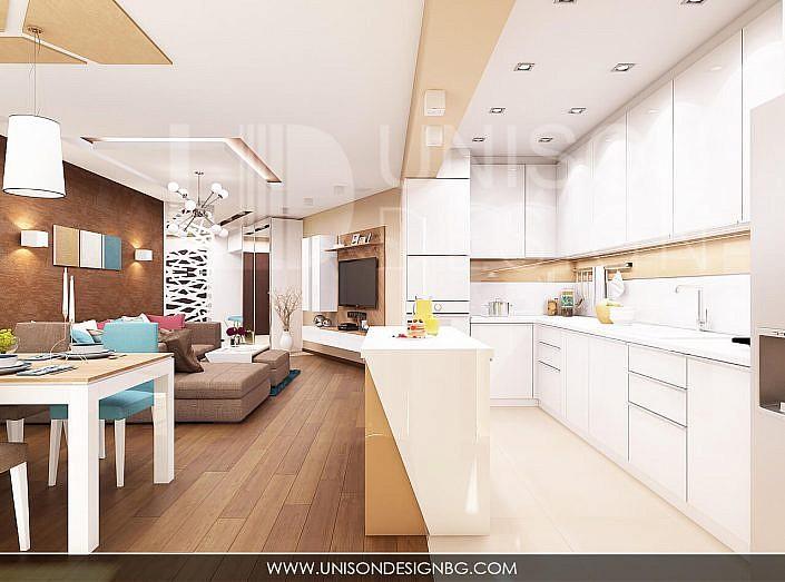 модерен-интериорен-проект-кухня-бяла-кафява-дизайн-дизайнер-апартамент-софия-dizainer-dizain-sofia