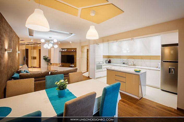 Дневна-интериорен-дизайн-реализация-обзавеждане-кухня-dnevna-kuhnq-obzavejdane-interioren-dizajn-unison-design
