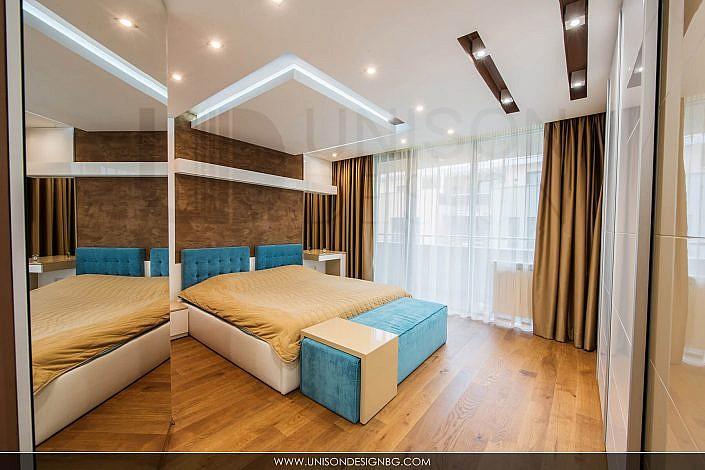 Спалня-интериорен-дизайн-реализация-легло-гардероб-spalnq-окачен-таван-interioren-dizajn-строителство-ремонт-софия
