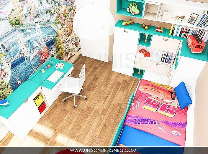 Обзавеждане-за-детска-стая-детски-мебели-коли-бюро-по-поръчка-obzavejdane-detska-staq-momche-unison-design
