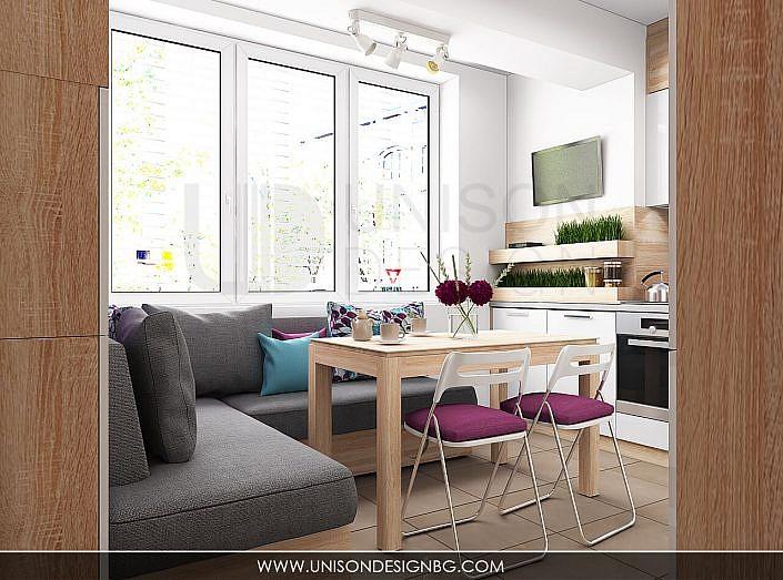 Кухня-бяла-дърво-лилава-интериорен-дизайнер-реализация-дизайн-обзавеждане-kuhnqa-bqla-kafqva-lilava-interioren-dizajn-unison-design-софия-3D-визуализация-6