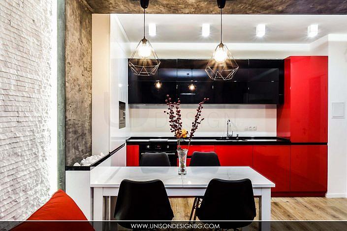 Кухня-черно-бяло-червено-интериорен-дизайн-дневна-трапезария--реализация-хол-hol-dnevna-interioren-dizajn-unison-design_3