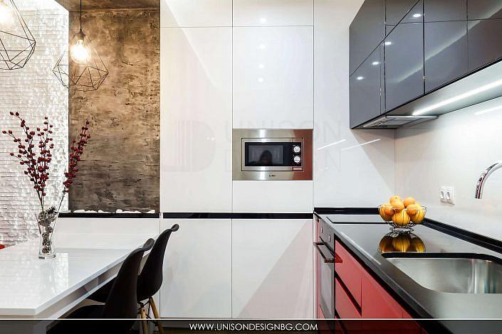 обзавеждане-модерна-кухня-бяло-черно-червено-интериорен-дизайн-дневна-трапезария-реализация-хол-hol-dnevna-interioren-dizajn-unison-design_5