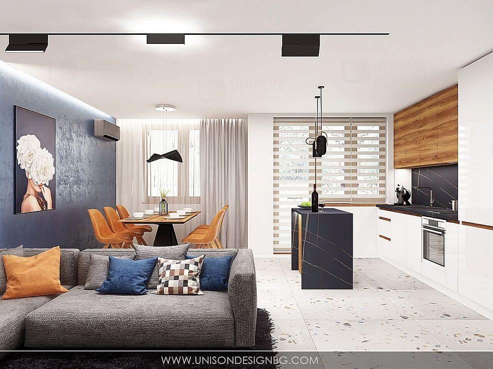 Интериорен проект на апартамент гр. Велико Търново