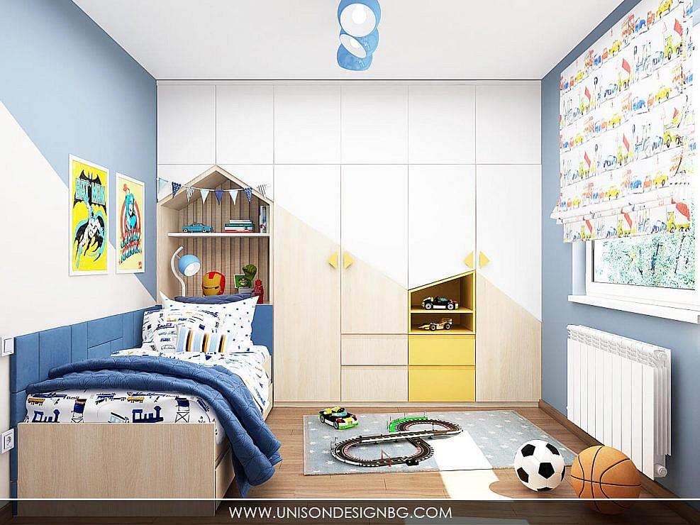 Интериорен дизайн на детска стая за момче